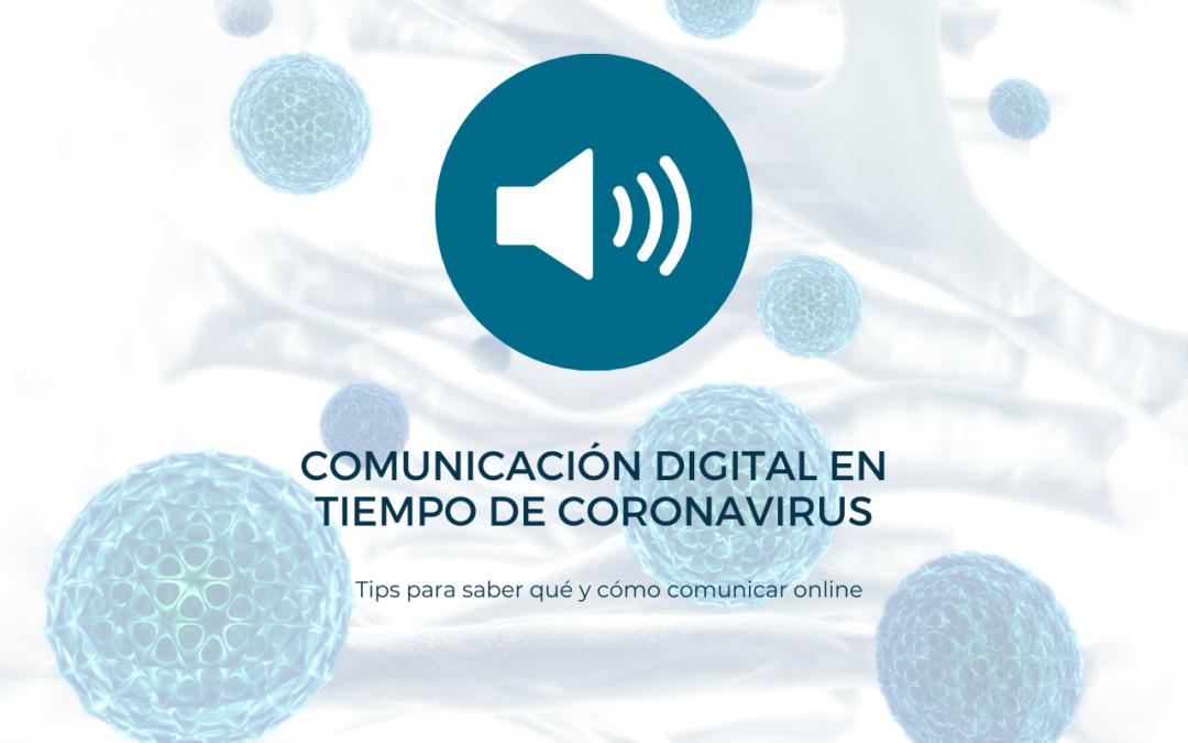 Comunicación digital en tiempos de coronavirus